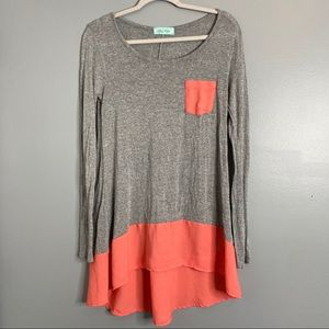 Filly Flair Gray Long Sleeve Tunic Small